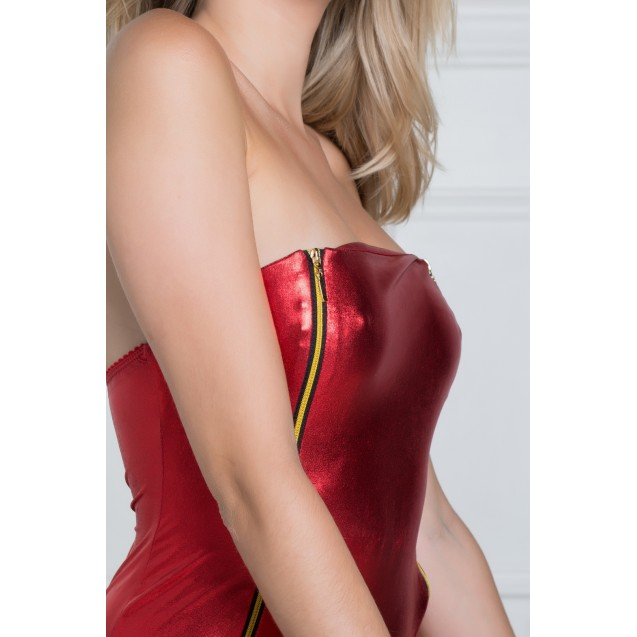 Fanny Red Sexy Bodysuit - Elegant and Sexy Body Lingerie