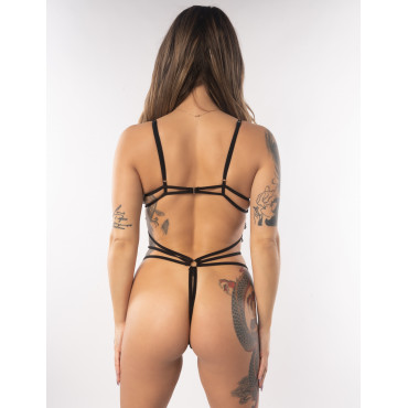 Olivia Erotic Strappy Black Body Lingerie